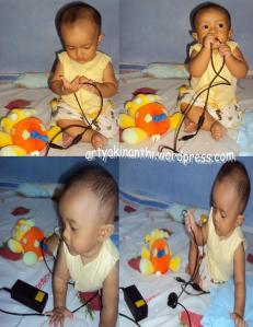 In Yellow, sukanya mainan cable charge