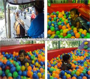 naik andong  and Mandi Bola di Fun Word ~ Malioboro Mall