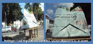 nasi bungkus di depan monumen serangan umum 11 maret yogya