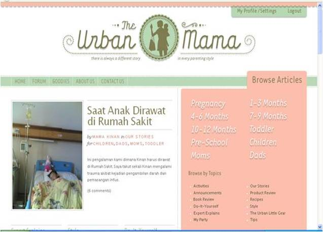 artikel di the urban mama