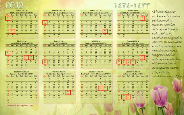 kalender hijriah 1433 H