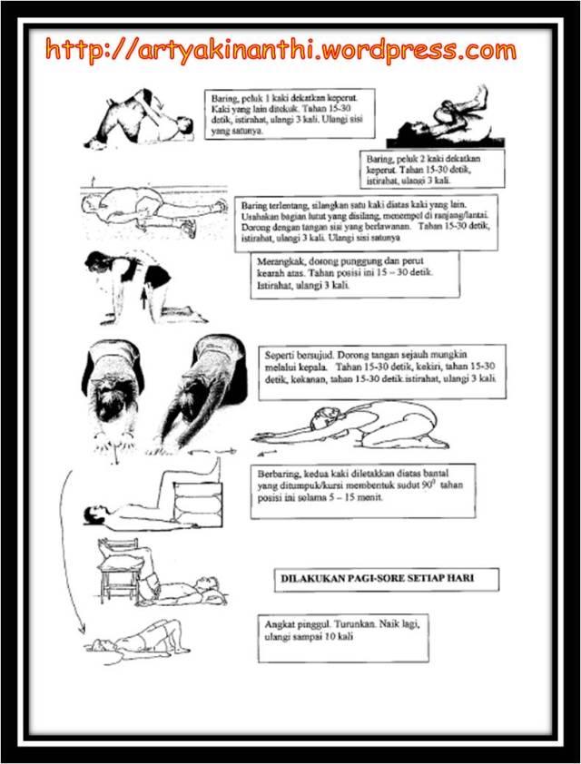 exercise untuk pinggang kecetit