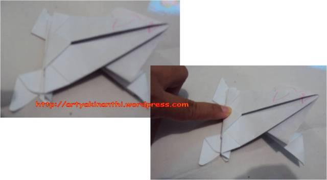 kreasi origami atung membuat Katak
