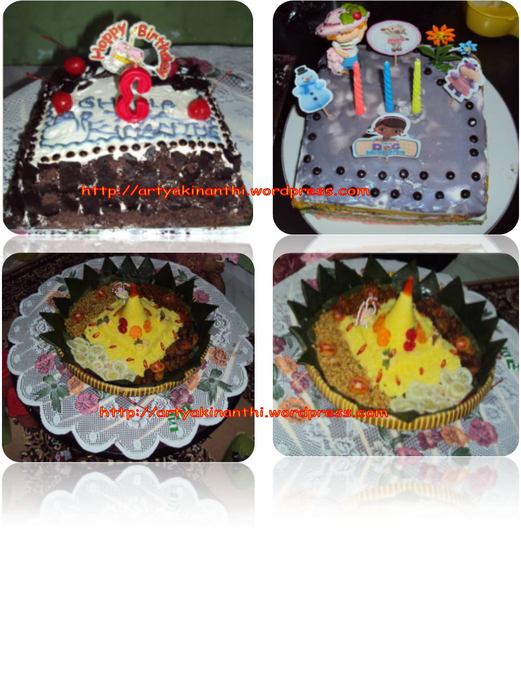 Birthday theme-when Doc Mc Stuffins Meet tumpeng and Black forest
