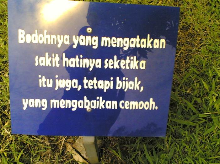 papan petuah di taman buah mekarsari