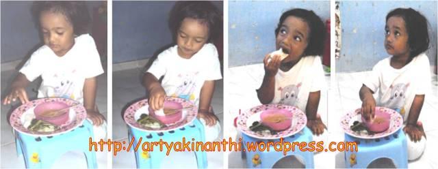 Kinan makan punten pecel