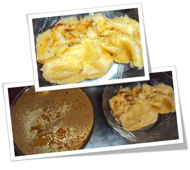roti prata dan kari ayam