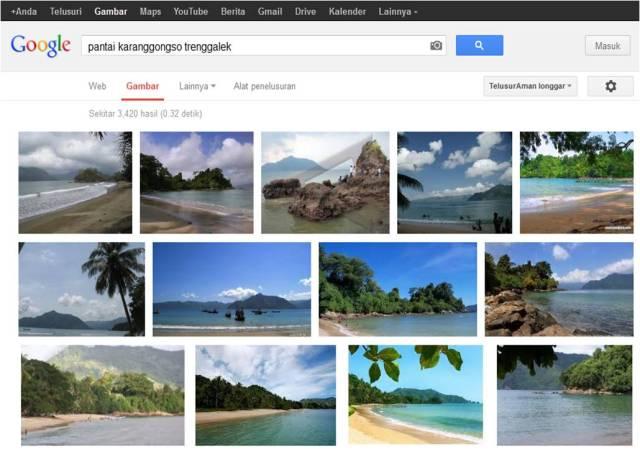 Pantai Karanggongso Trenggalek from Google