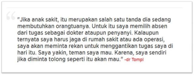 quote Dr Tompi dari NUB