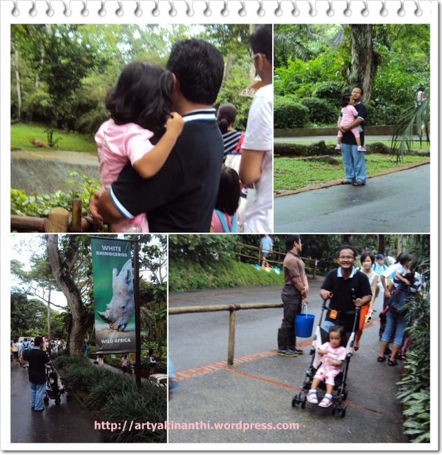 kinan & ayah at Singapore Zoo