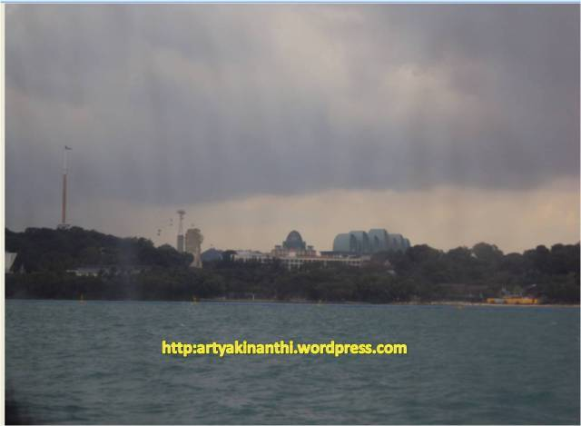 singapore from ferry sentosa island view