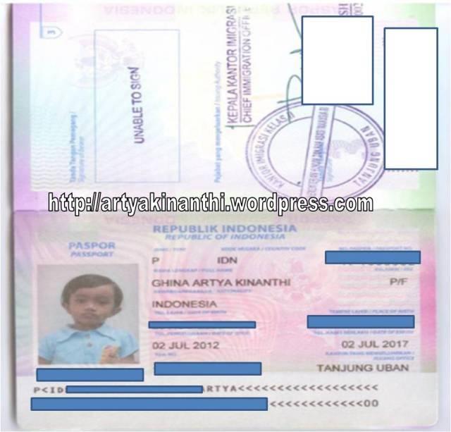 Paspor pertama kinan
