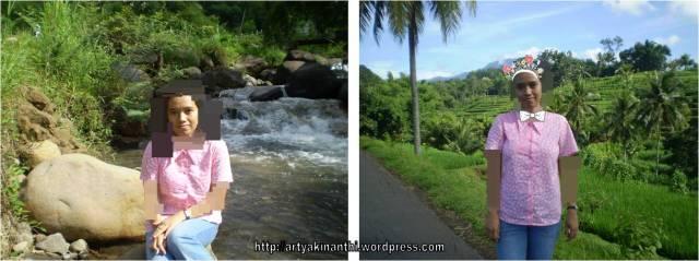 Photo tahun 2008 dengan background sungai dan jalan kearah Sendang