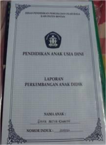 Raport PAUD kinan Semester 1