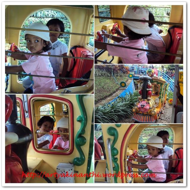 Kinan dan Mbak dill naik Mini Train