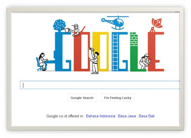 Google with Labour Day Theme