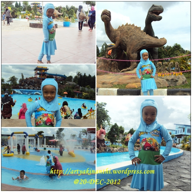 Kinan in action di Areca Water Park