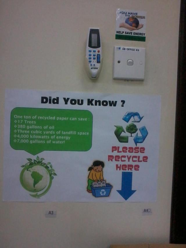"""Mempertimbangkan untuk menggunakan """"Recycle paper"""""""