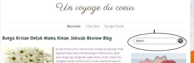 Fasilitas yang mempermudah pencarian artikel di Blogsusindra