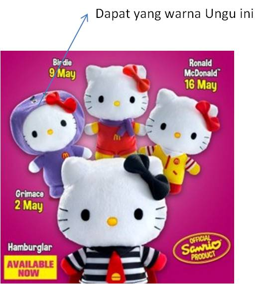 Hello Kitty hadiah dari Mac D Kuala lumpur