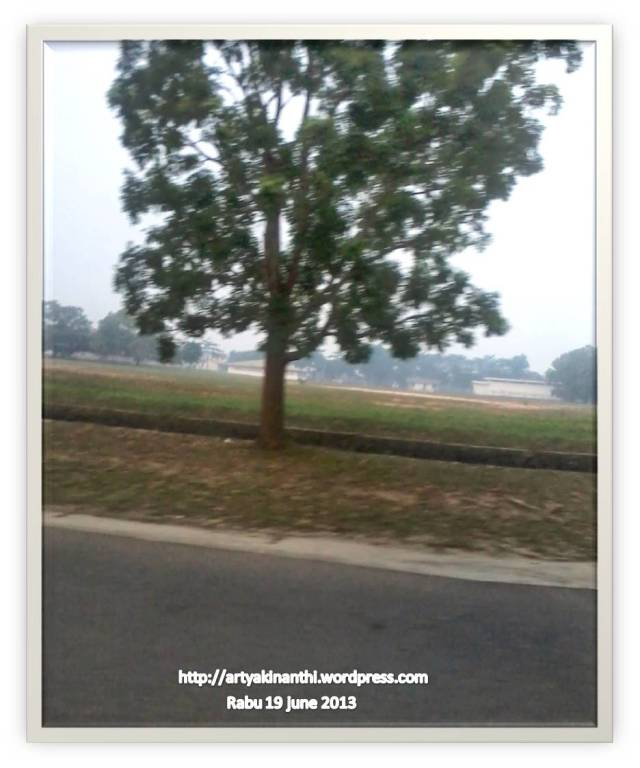 Kabut asap terlihat dikawasan industri Bintan Inti