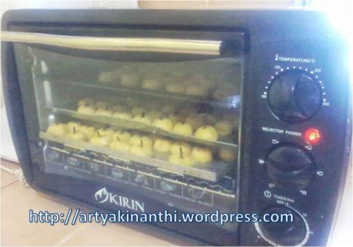 nastar dengan oven listrik