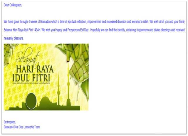 Selamat Hari Raya Idul Fitri 1434 H, Mohon Maaf Lahir dan Batin
