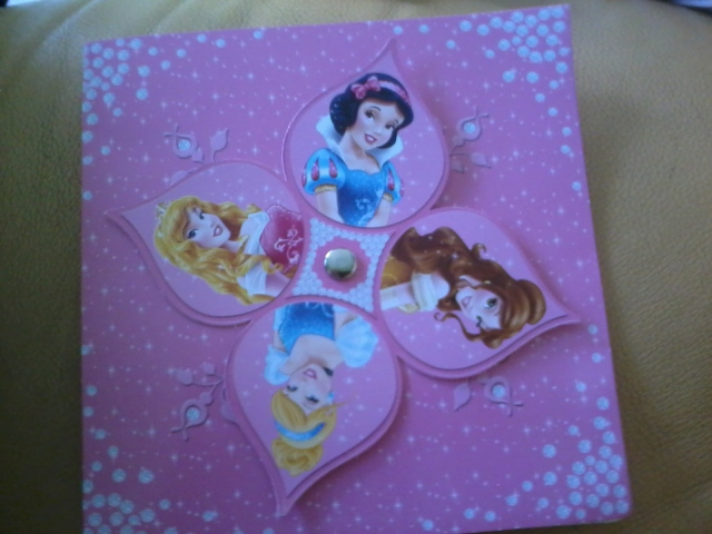 """Cover depan kartu hadiah dari majalah """"Princess"""""""