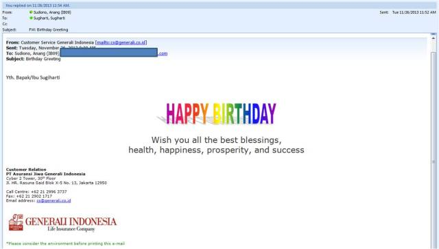 Birthday Greeting from here