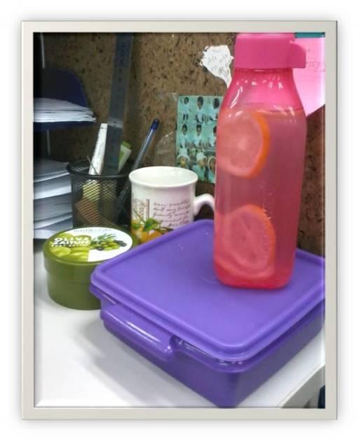 Infused Water ala Emak Kinan bekal pagi hari untuk nyangkul disawah
