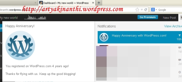 Happy Anniversary  - http;//artyakinanthi.wordpress.com