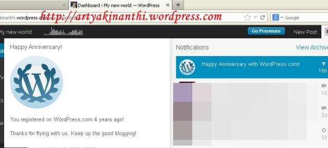 Happy Anniversary  - http;//artyakinanthi.wordpress.com