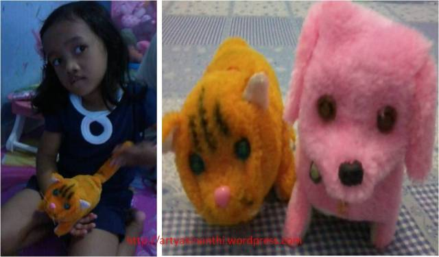 Kinan dan binatang Peliharaan walaupun hanya berupa boneka Made in China :)