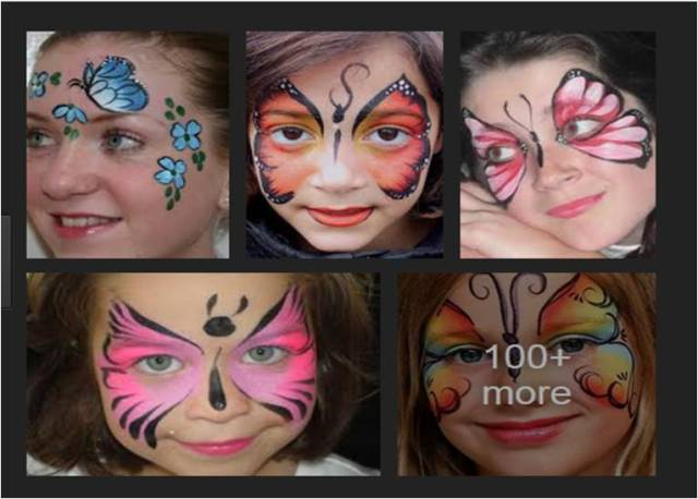 """Butterfly"" face decoration from google image"