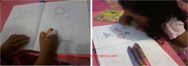 menggambar dan menulis