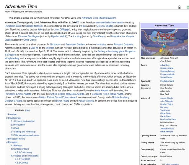About Adventure Time from Wikipedia