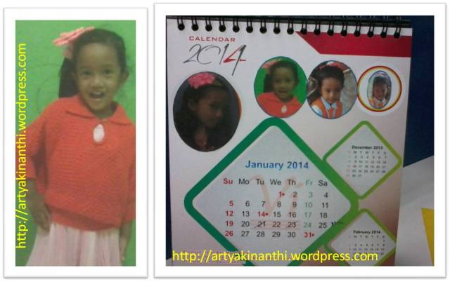 Kalender dengan photo kinan...