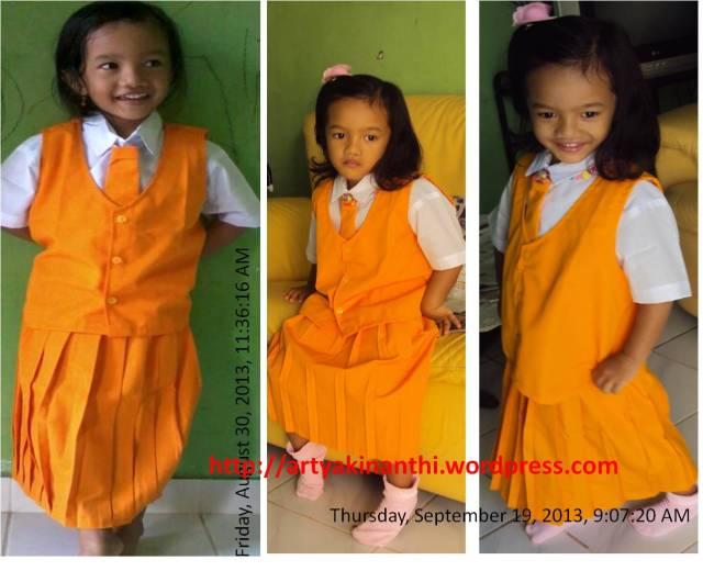 Kinan dengan Seragam  Oranye hari Senin dan selasa