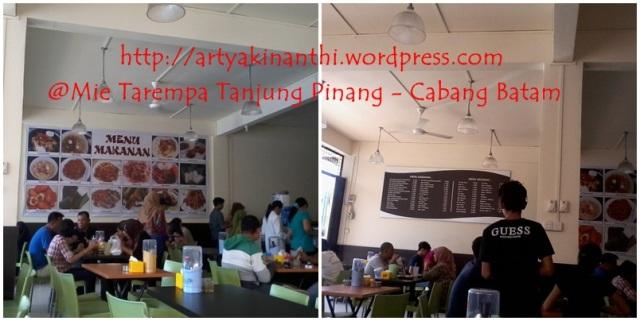 Suasana di rumah makan Mie Tarempa Tanjung Pinang